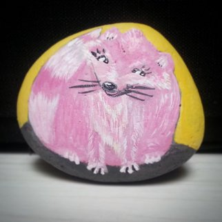 Foxy Rocksie - Rock Painting