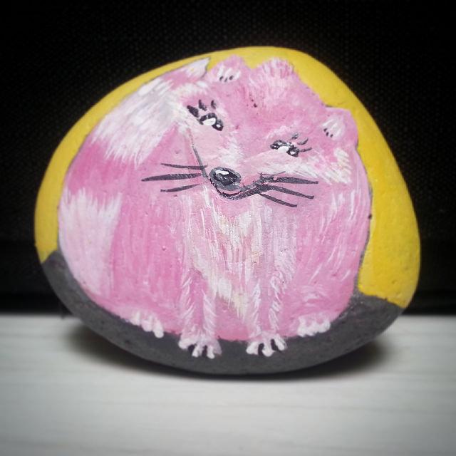 Foxy Rocksie -  Rock Painting