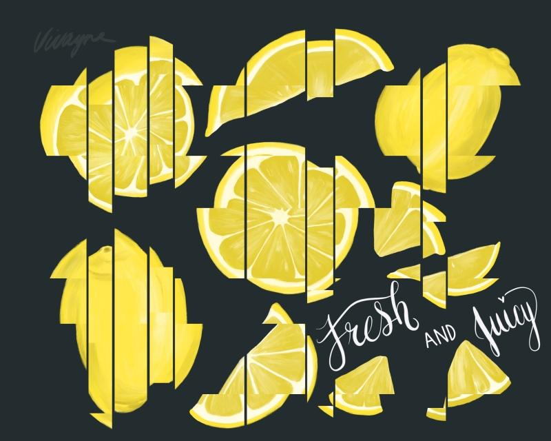 Vivayne glitch lemons fresh & juicy