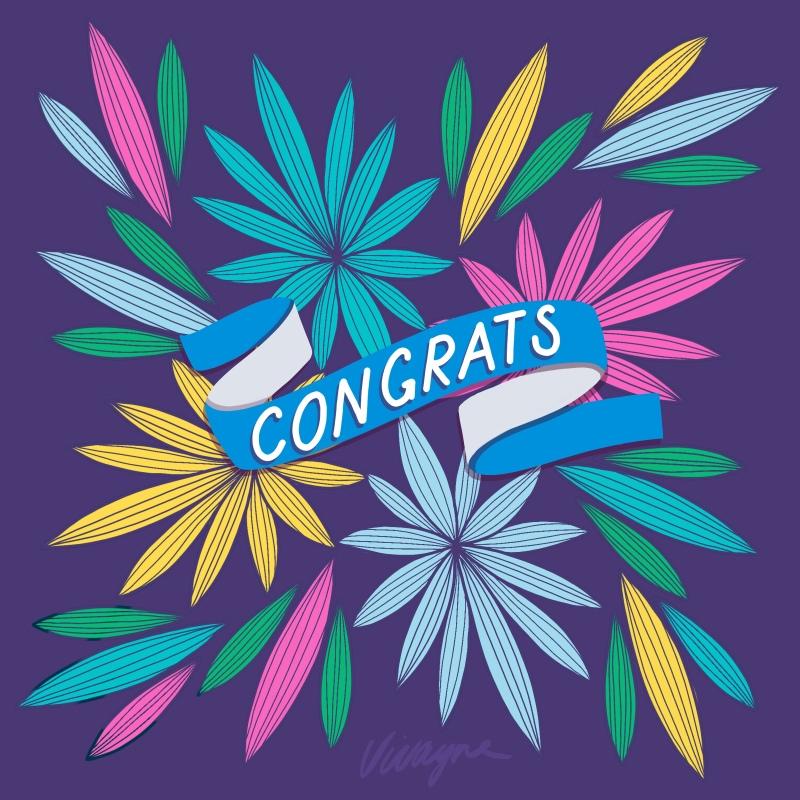 Vivayne four floral congratulations
