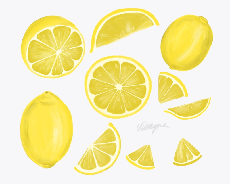 Yellow white lemons by vivayne