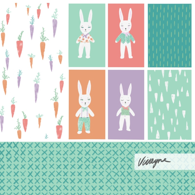 Vivayne sweet bunnies collections sell sheet