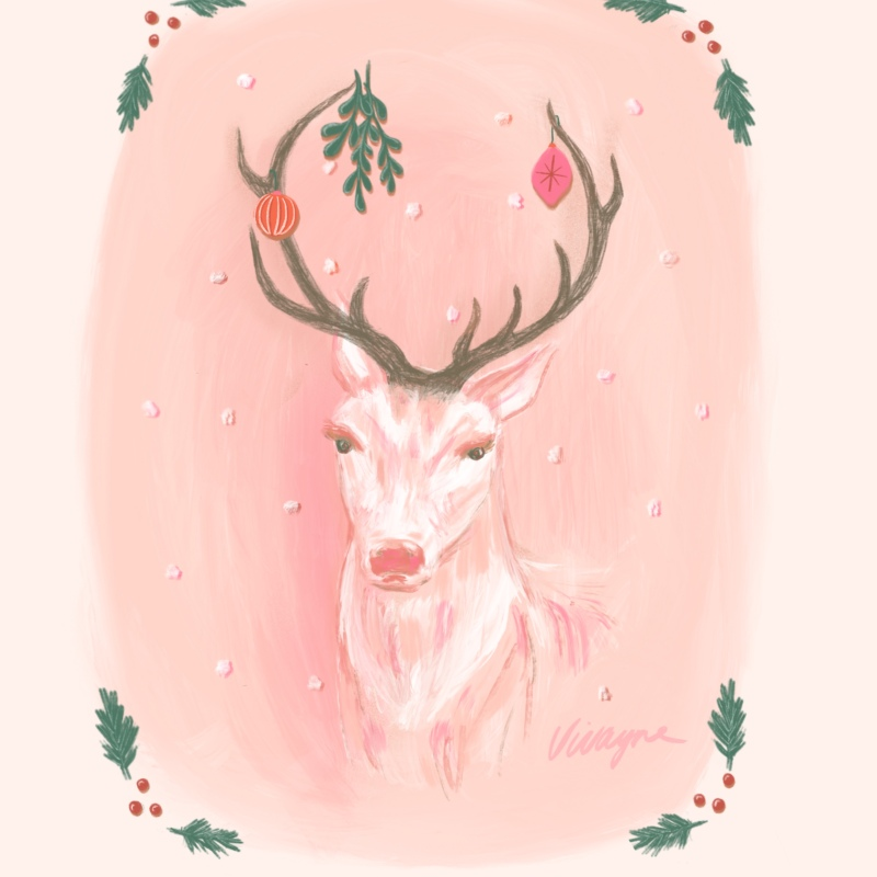 Vivayne christmas fauna on trend art licensing & surface pattern design