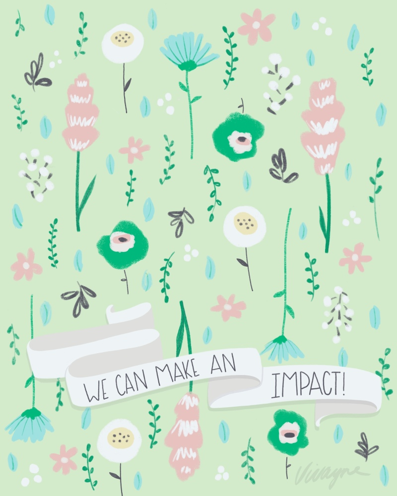 Vivayne green flora on trend art licensing & surface pattern design