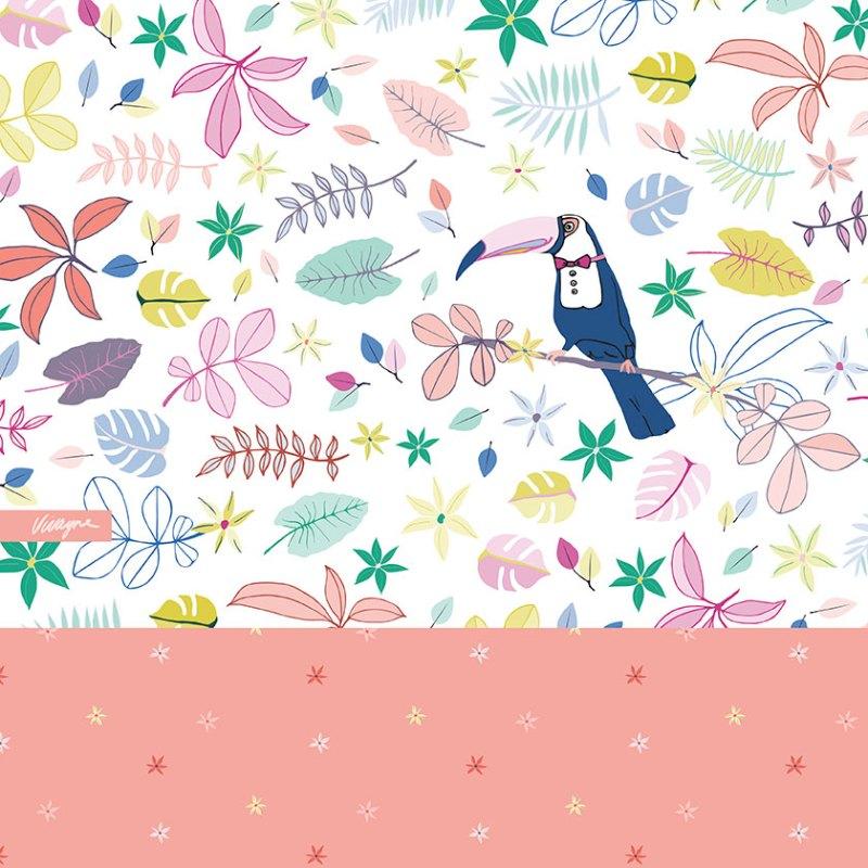 Vivayne Toucan Tropics on trend art licensing & surface pattern design
