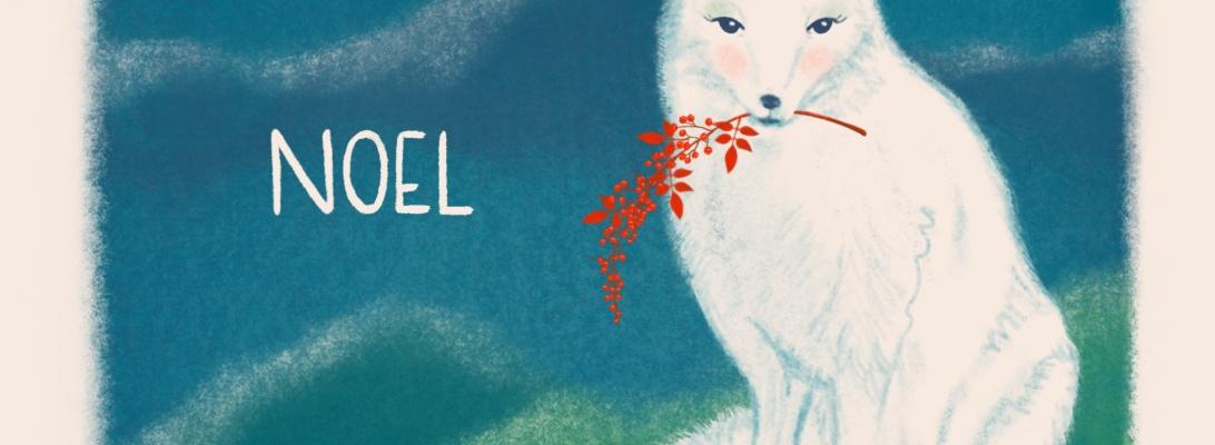 Peaceful Winter - White Fox