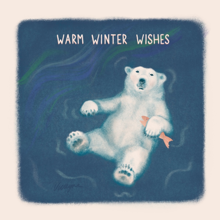 Peaceful Winter polar bear