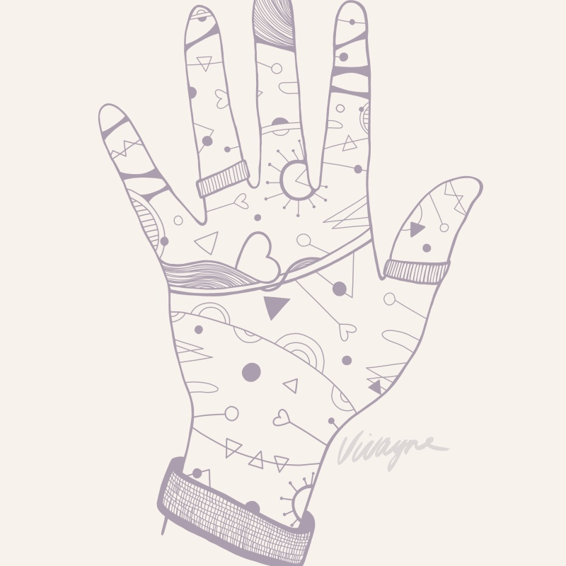 Holla Collection - Hold My Heart Hand Illustration