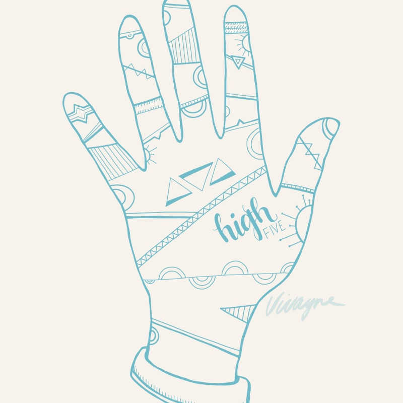Holla Collection - High Five Hand Illustration